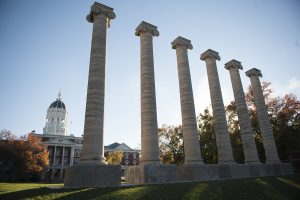 The Columns on Francis Quadrangle at the University of Missouri.
